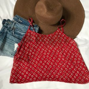 Brandy Melville Cropped Sunflower Top